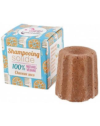 Lamazuna Shampoo Solido per capelli Secchi, Arancia - 55gr - Zero Plastica, 100% Naturale! Bagno Doccia Shampoo
