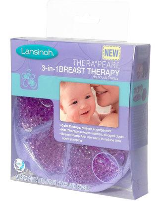 Lansinoh THERA°PEARL® 3 in 1 - Impacco caldo-freddo per allattamento - dà sollievo ai seni ingorgati e aiuta contro la mastite Prodotti Per La Cura Del Seno
