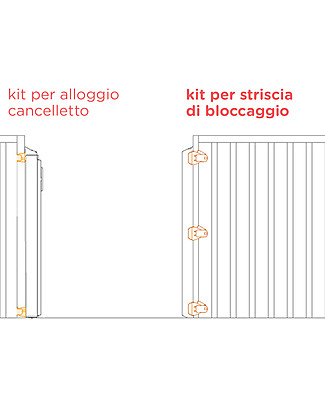 Lascal Kit Installazione Kiddiguard Avant, Per Ringhiera, Striscia di Bloccaggio - Nero Accessori
