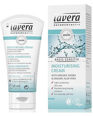 Lavera Bio Crema Idratante Viso, Basis Sensitiv - Jojoba e Aloe Vera - 50 ml Creme e Olii