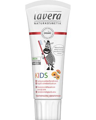 Lavera Bio Dentifricio Bimbi - Calendula Biologica e Calcio 75 ml Dentifricio e Spazzolini