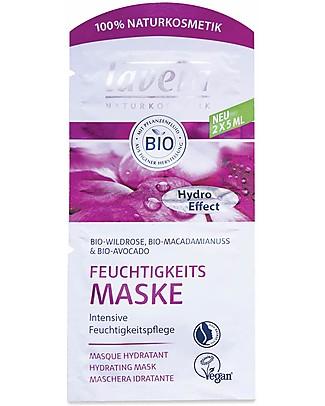 Lavera Bio Maschera per il Viso, Idratante - Rosa Selvatica, Macadamia e Avocado - 10 ml Viso