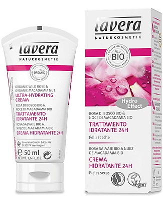 Lavera Bio Trattamento Idratante 24h - Rosa Selvatica e Noce di Macadamia - 50 ml Creme e Olii