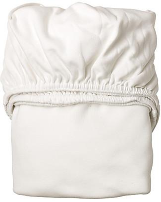 Leander Lenzuola di Sotto con Angoli, Bianco - Per Lettino Baby Leander, 100% cotone Lenzuola