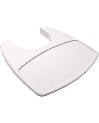 Leander Vassoio Amovibile per Seggiolone Leander, Bianco con Bordi Rialzati Seggioloni