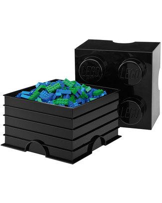 Lego Mattoncino Contenitore LEGO - Blu - 4 Bottoncini Contenitori Porta Giochi