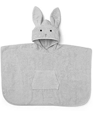Liewood Accappatoio Poncho Orla da Bagno, Coniglio Dumbo Grey - 100% Spugna di Cotone Bio Accappatoi e Asciugamani
