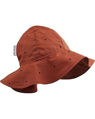 Liewood Cappellino Estivo Amelia, 100% cotone bio - Color Ruggine a Pois Cappelli Estivi