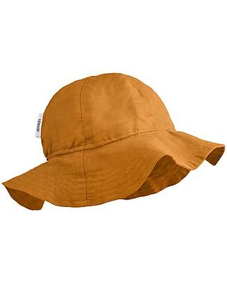 Liewood Cappellino Estivo Dorrit,  Lino e Cotone Bio - Mostarda Cappelli Estivi