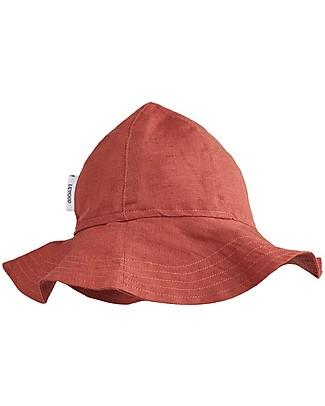 Liewood Cappellino Estivo Dorrit, Lino e Cotone Bio - Ruggine Cappelli Estivi