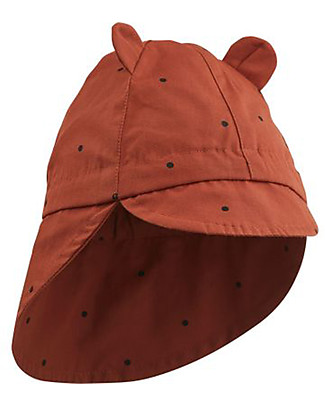 Liewood Cappellino Estivo Gorm, 100% cotone bio - Color Ruggine a Pois Cappelli Estivi
