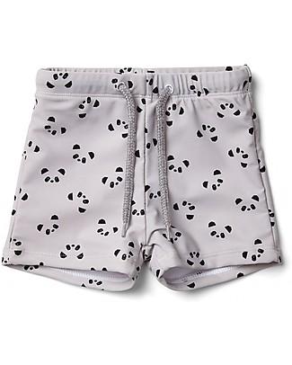 Liewood Costume a Pantaloncino Otto, Panda Dumbo Grey - UV 50+ Costumi a Pantaloncino