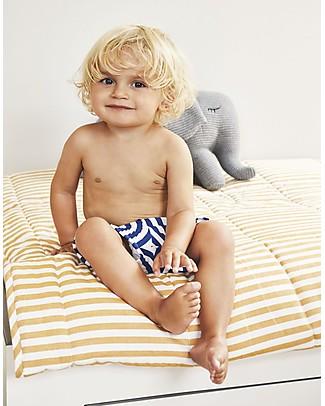 Liewood Costume a Pantaloncino Otto, Righe Blu e Bianche - UV 50+ Costumi a Pantaloncino