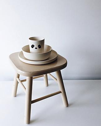 Liewood Set Pappa in Bambù, 4 Pezzi - Panda Bianco e Nero Piatti e Scodelle