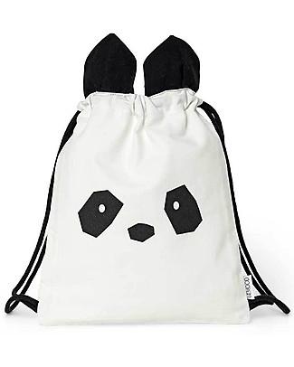 Liewood Zainetto Bimbi Gert, Panda Creme de la Creme - 100% Cotone Biologico Zainetti