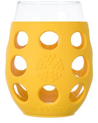 Lifefactory Bicchieri con Rivestimento in Silicone, 2 x 375 ml - Giallo Tazze e Bicchieri