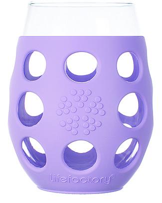 Lifefactory  Bicchieri con Rivestimento in Silicone, 2 x 375 ml - Lilla Tazze e Bicchieri