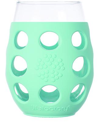 Lifefactory Bicchieri con Rivestimento in Silicone, 2 x 375 ml - Turchese Tazze e Bicchieri