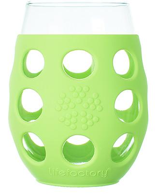 Lifefactory  Bicchieri con Rivestimento in Silicone, 2 x 375 ml - Verde Chiaro Tazze e Bicchieri