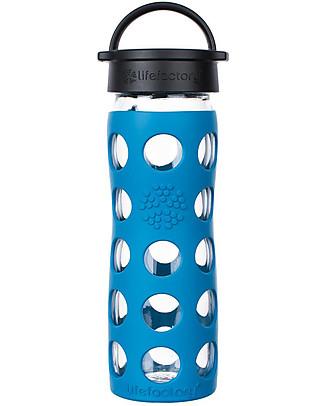Lifefactory Borraccia Core in Vetro e Silicone 475 ml, Azzurro Cobalto Borracce Vetro