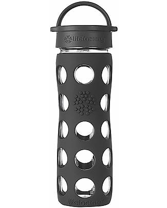 Lifefactory Borraccia in Vetro e Silicone con Classic Cap - 475ml - Nero Borracce Vetro