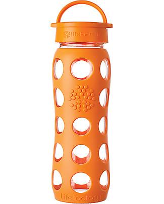 Lifefactory Borraccia in Vetro e Silicone con Tappo Ermetico 650ml - Arancione Borracce Vetro