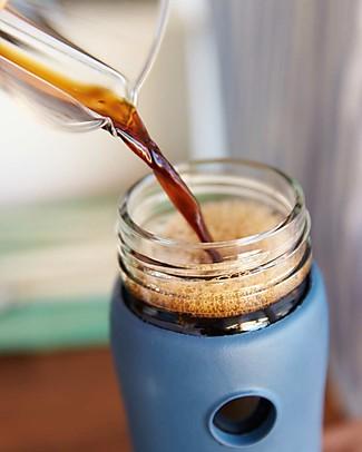 Lifefactory Borraccia Termica da Viaggio in Vetro con Guaina Esterna Isolante - 350 ml - Espresso Thermos