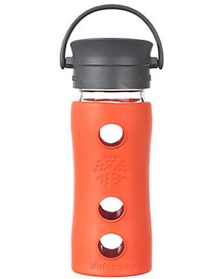 Lifefactory Borraccia Termica da Viaggio in Vetro con Guaina Esterna Isolante - 350 ml - Lava Thermos