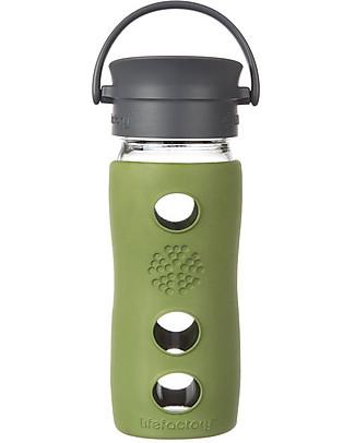 Lifefactory Borraccia Termica da Viaggio in Vetro con Guaina Esterna Isolante - 350 ml - Salvia Contenitori In Vetro