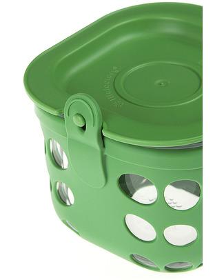 Lifefactory Contenitore Cibo di Vetro 475ml − Verde Bosco Contenitori In Vetro