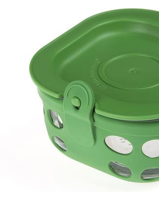 Lifefactory Contenitore Portacibo di Vetro 240ml - Verde Bosco Contenitori In Vetro
