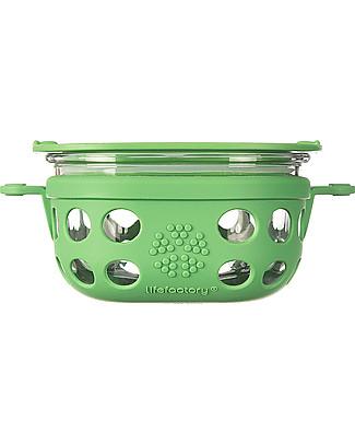 Lifefactory Contenitore Portacibo di Vetro 240ml - Verde Bosco null