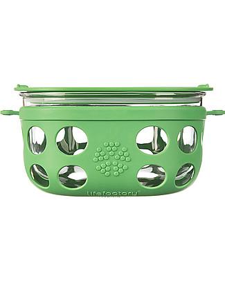 Lifefactory Contenitore Portacibo di Vetro 950ml - Verde Bosco Contenitori In Vetro