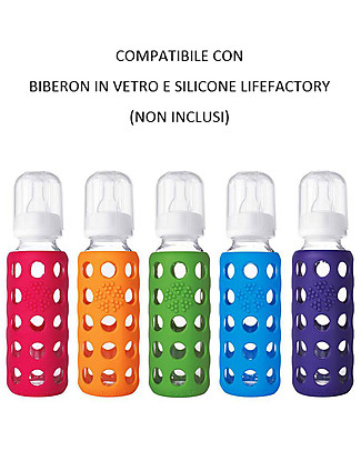 Lifefactory Sippy Cap Set da 2 Beccucci Bevimpara - Lampone (Per biberon Lifefactory) Biberon In Vetro