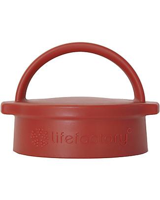 Lifefactory Tappo a Vite Classic Cap - Rosso (bottiglie da 650ml/475ml) Borracce Vetro