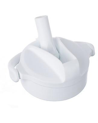 Lifefactory Tappo Pivot Straw Cap, Compatibile con Borracce Lifefactory - Bianco Artico Bottiglie Conservalatte