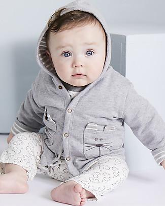 Lilly+Sid Giacca Felpata Reversibile Baby, Topolino - 100% Cotone bio Giacche