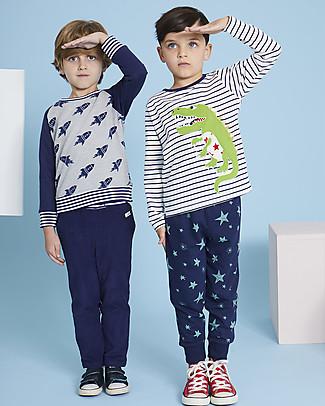 Lilly+Sid Pantaloni Lunghi, Blu - 100% Cotone bio Pantaloni Lunghi