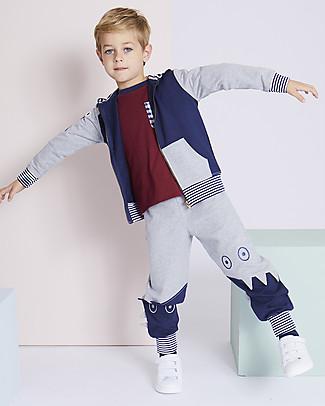 Lilly+Sid Pantaloni Lunghi, Mostri - 100% Cotone bio Pantaloni Lunghi