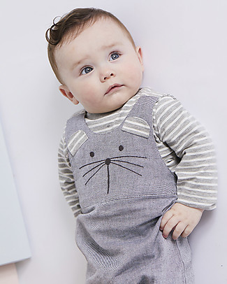 Lilly+Sid Salopette Baby, Topolino - 100% Cotone bio Salopette
