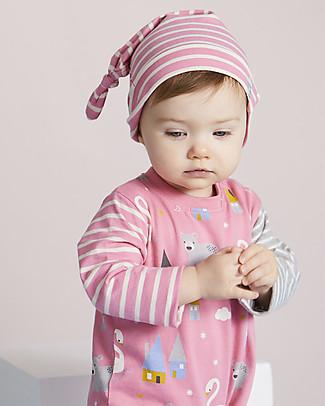 Lilly+Sid Tutina Bimba con Cappello, Cigno - 100% Cotone Tutine Lunghe Senza Piedi