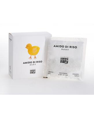"""Linea Mamma Baby Amido di Riso Baby """"Clementino"""" 150gr - 100% Amido di Riso  Kit Toilette Neonato"""