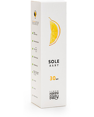 Linea Mamma Baby Angelina, Solare Baby 30+, 150 ml - Protezione UVA e UVB. Ecologico! Solari