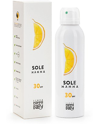 Linea Mamma Baby Angelina, Spray Sole Mamma 30+, 150 ml - Eco-friendly! Solari