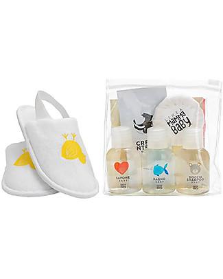 Linea Mamma Baby Linea Cortesia, Pochette Trasparente con una Selezione di Prodotti - Provali tutti! Kit Toilette Neonato