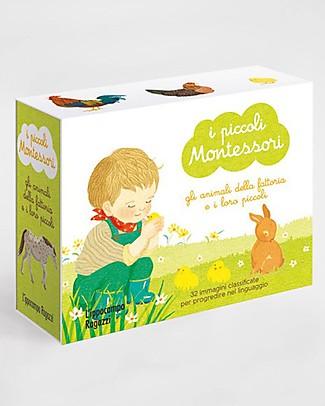 L'ippocampo Ragazzi I piccoli Montessori, Gli animali della fattoria - 32 cards + libretto Libri
