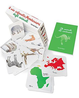 L'ippocampo Ragazzi Il Mio Cofanetto Montessori degli Animali - 57 carte + libretto attività Giochi Montessoriani