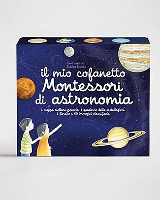L'ippocampo Ragazzi Il Mio Cofanetto Montessori di Astronomia - 60 Immagini Giochi Montessoriani