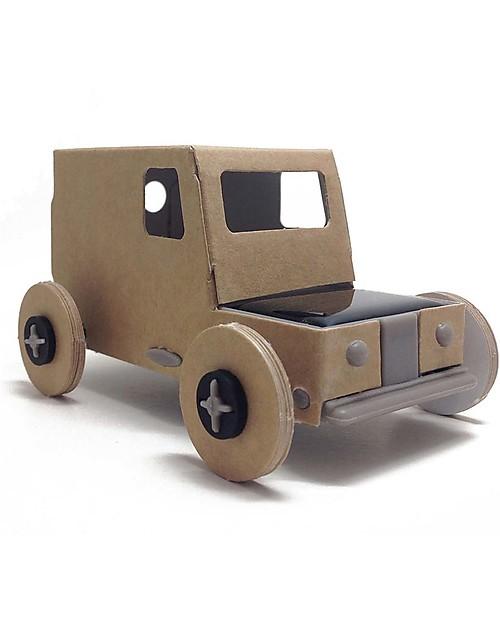 Macchina Con Pannello Solare : Litogami autogami macchina in cartone con pannello solare