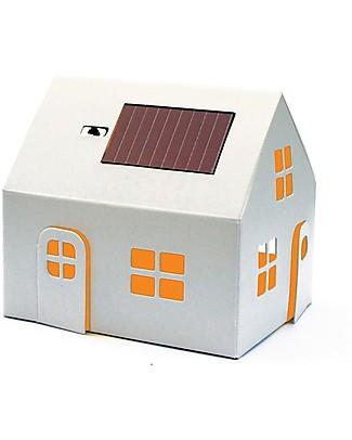 Litogami Casagami, Luce Notturna con Pannello Solare,  - Ecologica, si assembla in 2 minuti! Carta e Cartone